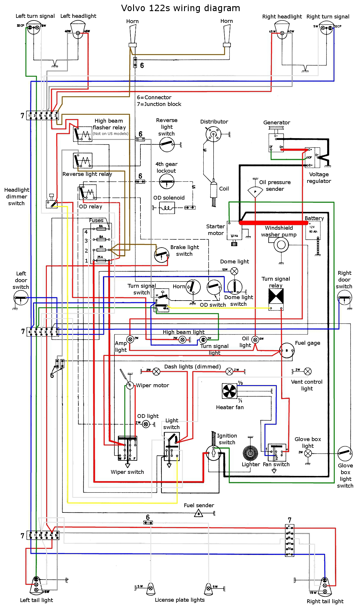 Volvo s wiring diagram t engine